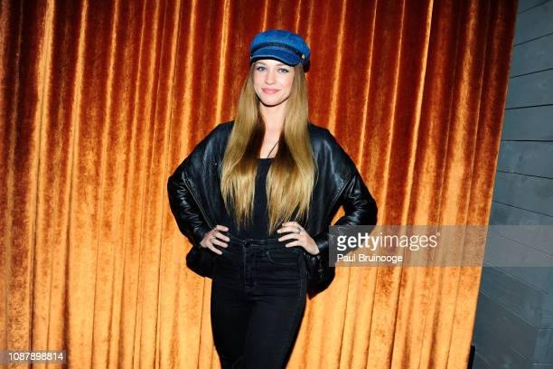 Alexis Knapp attends Aviron Pictures with The Cinema Society host the after party for Serenity at Magic Hour Rooftop Bar Lounge on January 23 2019 in...