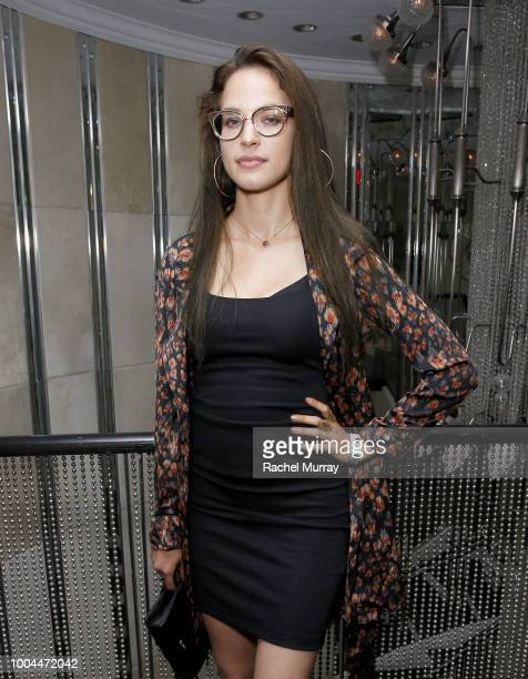 Alexis Knapp attends Flaunt and Ermenegildo Zegna's celebration of The Prelude Issue with Bill Skarsgard at Beauty Essex on July 23 2018 in Los...