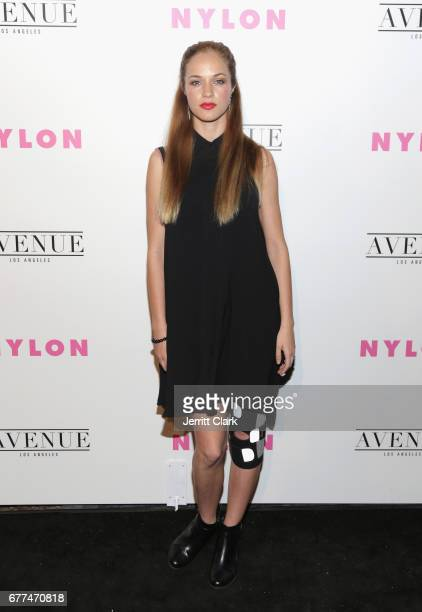 Alexis Knapp attends NYLON's Annual Young Hollywood May Issue Event With Cover Star Rowan Blanchard at Avenue on May 2 2017 in Los Angeles California