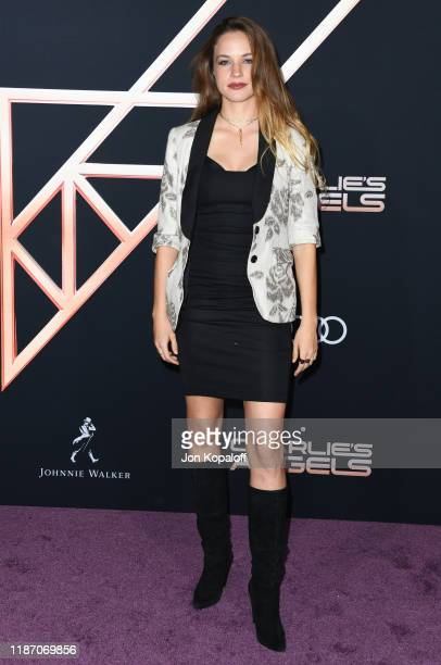 Alexis Knapp attends the premiere of Columbia Pictures' Charlie's Angels at Westwood Regency Theater on November 11 2019 in Los Angeles California