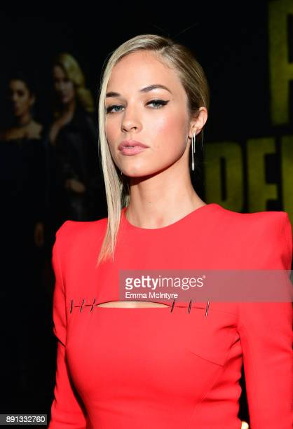 Alexis Knapp attends the premiere of Universal Pictures' 'Pitch Perfect 3' at Dolby Theatre on December 12 2017 in Hollywood California