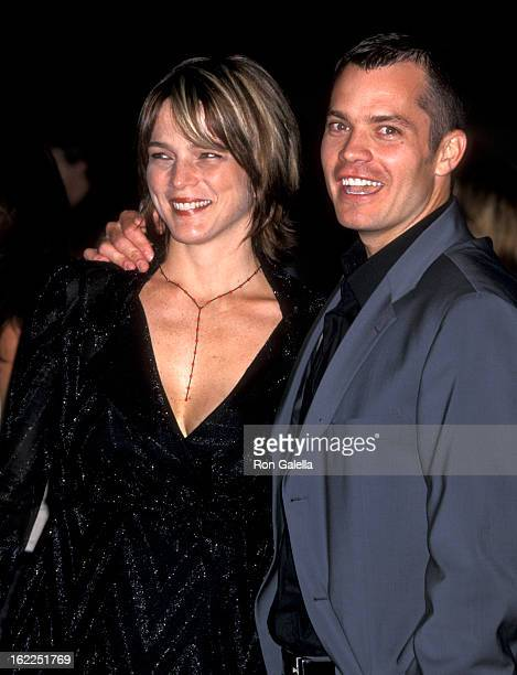 Alexis Knief and Timothy Olyphant attend the premiere of 'Rockstar' on September 4 2000 at Mann Village Theater in Westwood California