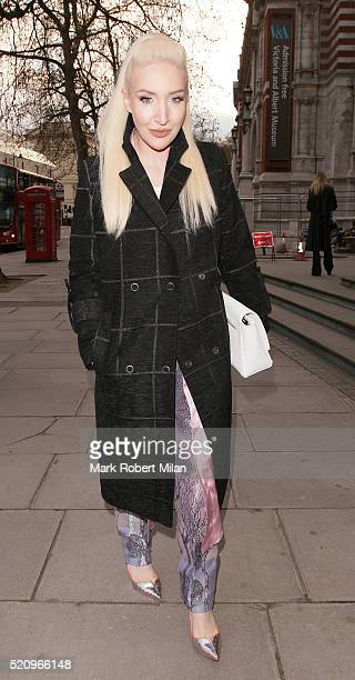 Alexis Knox attending 'Undressed A Brief History of Underwear' Private View at the VA on April 13 2016 in London England