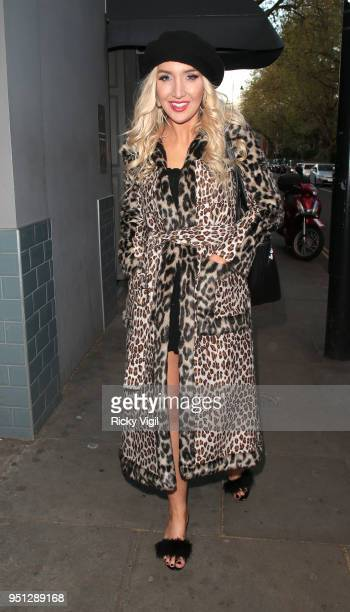 Alexis Knox seen attending The Tribe Syndicate launch party at Beaufort House Chelsea on April 25 2018 in London England