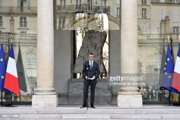 TOPSHOT Alexis Kohler Secretary General of the Elysee presidentiel Palace announces the composition of the French government on May 17 2017 in Paris...