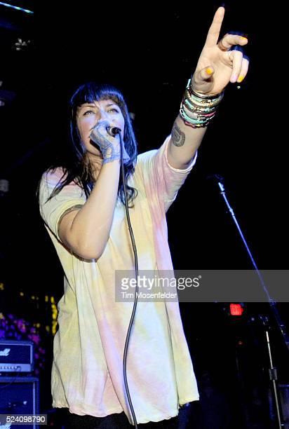 Alexis Krauss of Sleigh Bells performs as part of the NPR Day Party at The Parish as part of SXSW 2010 in Austin Texas