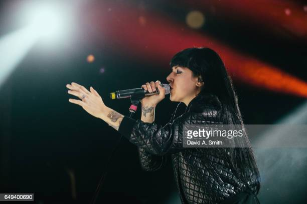Alexis Krauss of Sleigh Bells performs at Saturn Birmingham on March 7 2017 in Birmingham Alabama