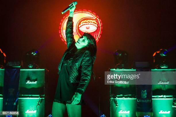 Alexis Krauss of Sleigh Bells performs during BUKU Music Arts Project on March 10 2017 in New Orleans Louisiana