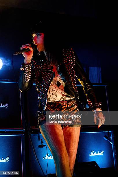 Alexis Krauss of Sleigh Bells performs during the VEVO showcase at ACL Live at Moody Theatre on March 17 2012 in Austin Texas