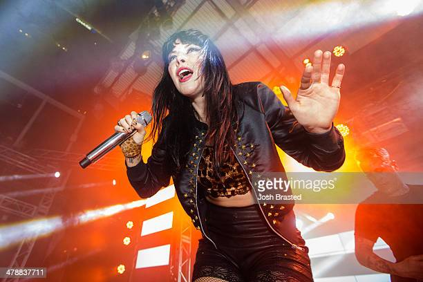 Alexis Krauss of Sleigh Bells performs onstage at The Belmont during the 2014 SXSW Music Film Interactive Festival