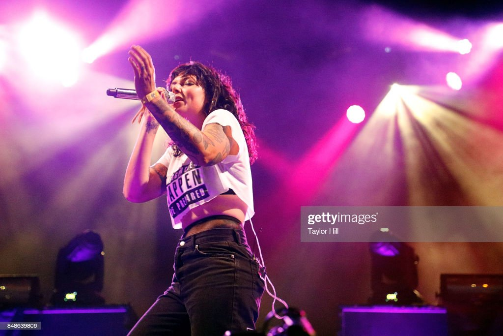 Alexis Krauss of Sleigh Bells performs onstage during Day 3 at The Meadows Music & Arts Festival at Citi Field on September 17, 2017 in New York City.
