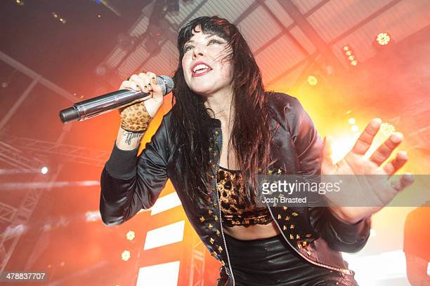 Alexis Krauss of Sleigh Bells performs onstage during the 2014 SXSW Music Film Interactive Festival at The Belmont