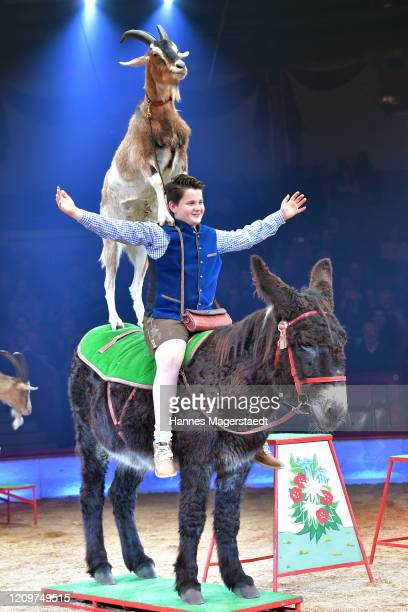 Alexis Lacey during the third show premiere of the winter season as part of the 100th anniversary celebrations at Circus Krone on March 01 2020 in...
