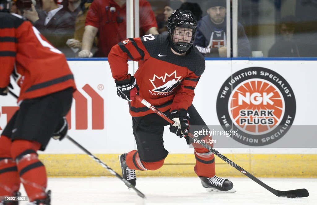 Canada v Slovakia: Exhibition - 2019 IIHF World Junior Championship : News Photo