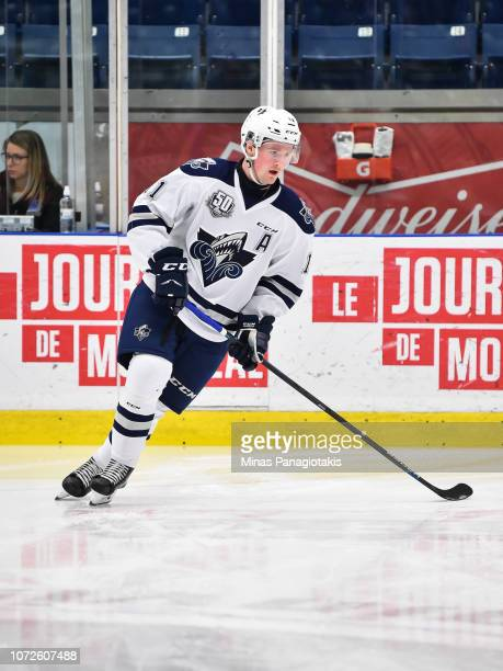 Alexis Lafreniere of the Rimouski Oceanic skates during the warmup against the BlainvilleBoisbriand Armada prior to the QMJHL game at Centre...