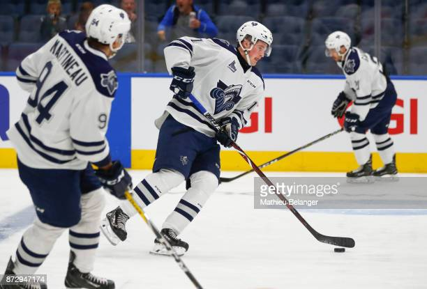 Alexis Lafreniere of the Rimouski Oceanic skates prior to his game against the Quebec Remparts at the Centre Videotron on October 25 2017 in Quebec...