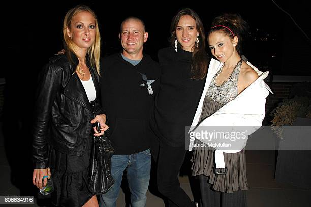 Alexis Laken Darin Feinstein Zani Gugelmann and Stacey Bendet attend THE CINEMA SOCIETY and W MAGAZINE host the after party for ELIZABETH THE GOLDEN...