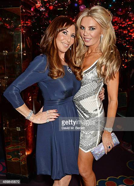 Alexis Lewis and Claire Caudwell attend the Chopard Christmas Party at Annabel's on December 2 2014 in London England