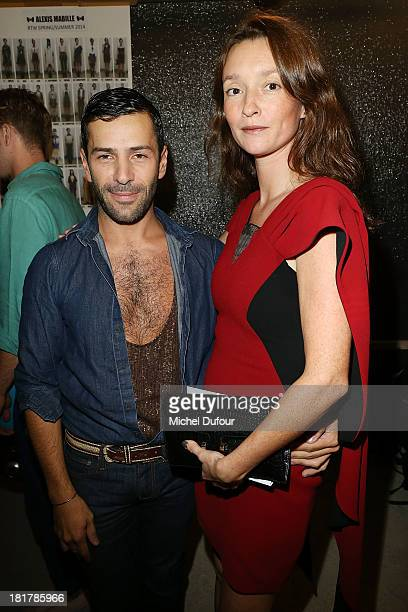 Alexis Mabille and Audrey Marney attend the Alexis Mabille show as part of the Paris Fashion Week Womenswear Spring/Summer 2014 on September 25 2013...