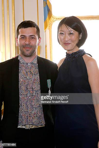 Alexis Mabille and Fleur Pellerin attend French minister of Culture and Communication Fleur Pellerin gives Medal of 'Knight of Arts and Letters' to...