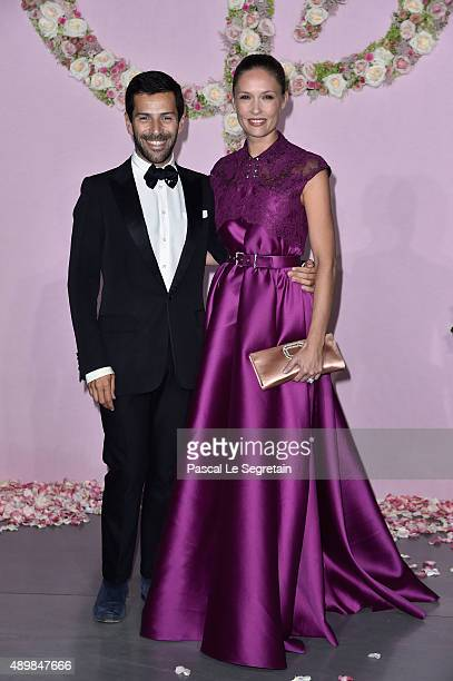Alexis Mabille and Lilou Fogli attend a photocall during The Ballet National de Paris Opening Season Gala at Opera Garnier on September 24, 2015 in...