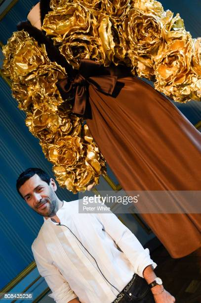 Alexis Mabille poses during the Alexis Mabille Haute Couture Fall/Winter 2017-2018 Presentation as part of Haute Couture Paris Fashion Week on July...