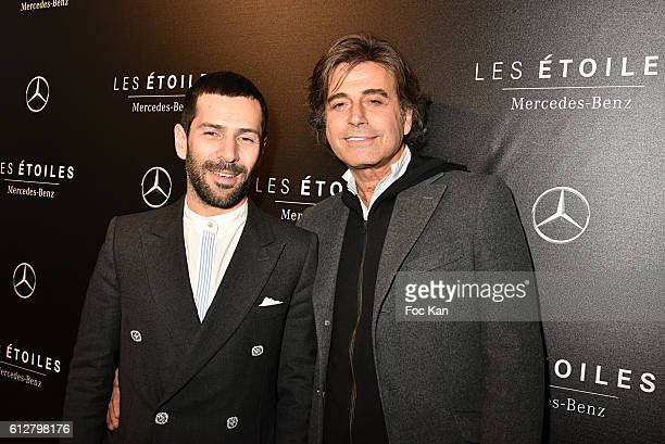 Alexis MabilleÊand Alexandre Zouari attend the Les Etoiles MercedesBenz Cocktail Paris Fashion Week Womenswear Spring/Summer 2017 at garage Lubeck on...