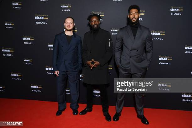 Alexis Manenti Ladj Ly and Djebril Zonga attend the Cesar Revelations 2020 Photocall at Petit Palais on January 13 2020 in Paris France