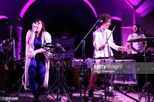 Alexis Marceaux Sam Craft and Skyler Stroup of Sweet Crude performs onstage at Verve Music Group during the 2019 SXSW Conference and Festivals at...
