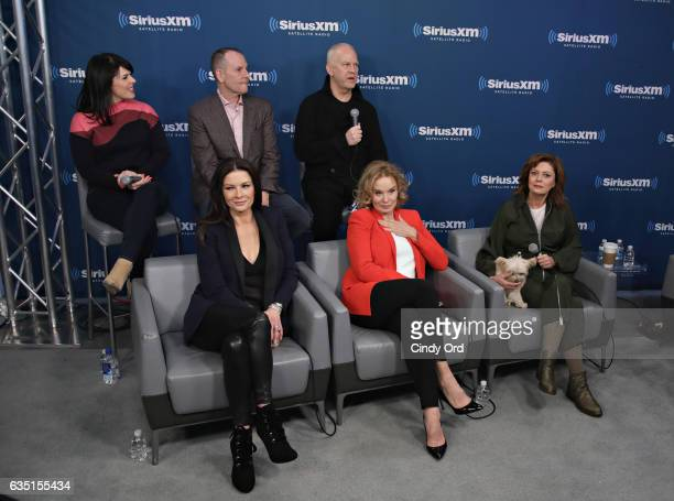 Alexis Martin Tim Minear Ryan Murphy Catherine ZetaJones Jessica Lange and Susan Sarandon take part in SiriusXM's 'Town Hall' with the cast of 'Feud'...
