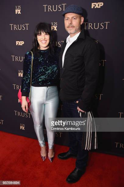 Alexis Martin Woodall and Daniel Minahan attend the 2018 FX Annual AllStar Party at SVA Theater on March 15 2018 in New York City
