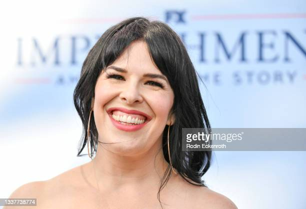 """Alexis Martin Woodall attends the premiere of FX's """"Impeachment: American Crime Story"""" at Pacific Design Center on September 01, 2021 in West..."""