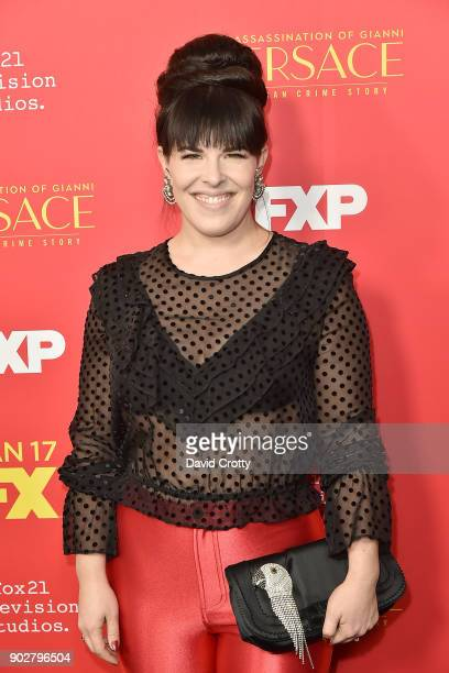 Alexis Martin Woodall attends the Premiere Of FX's 'The Assassination Of Gianni Versace American Crime Story' Arrivals at ArcLight Hollywood on...