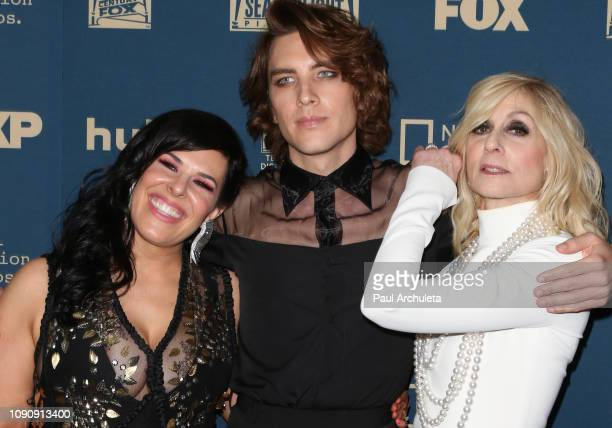 Alexis Martin Woodall Cody Fern and Judith Light attend the FOX FX and Hulu 2019 Golden Globe Awards after party at The Beverly Hilton Hotel on...