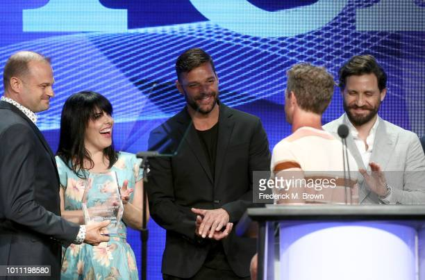 Alexis Martin Woodall Ricky Martin Tom Rob Smith and Édgar Ramírez attend the 34th Annual Television Critics Association Awards during the 2018...