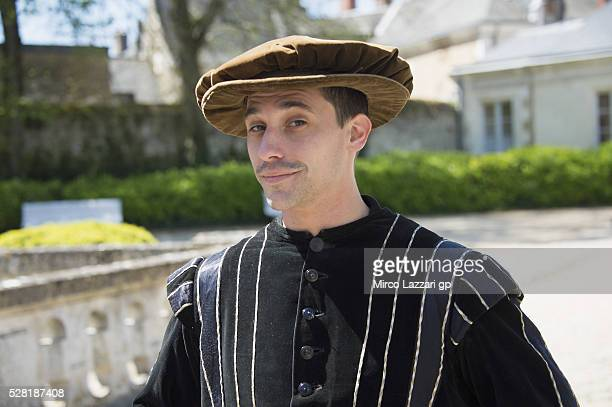 Alexis Masbou of France and Peugeot Saxoprint MC smiles during a preview event at the Chateau du Lude ahead of the MotoGp of France on May 4 2016 in...