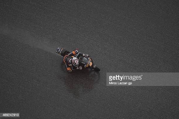 Alexis Masbou of France and Saxoprint RTG rounds the bend during the MotoGp Red Bull US Grand Prix of The Americas Free Practice at Circuit of The...