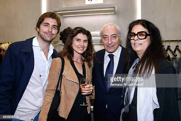 Alexis Maugey Nathalie PerakisValat JeanPierre Meyers and his wife Francoise Bettencourt Meyers attend the Opening of the Collection 'Exemplaire x...