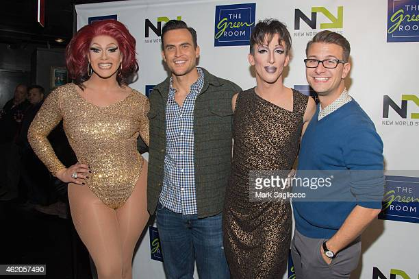 Alexis Michelle actor Cheyenne Jackson Marti Gould Cummings and Michael Lamasa attend 'The Not So Late Show' at the New World Stages on January 23...
