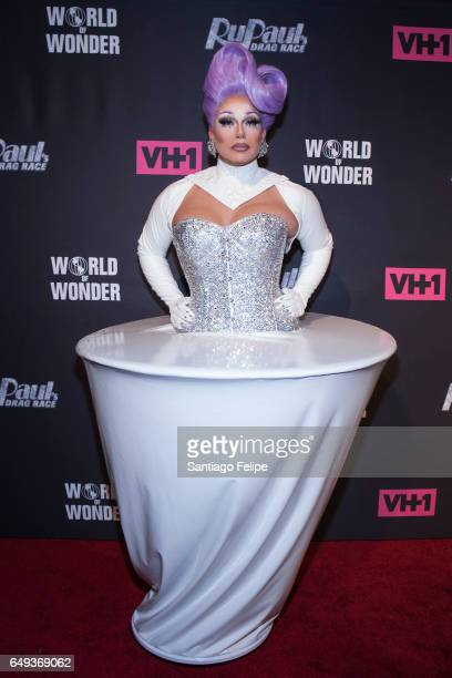 Alexis Michelle attends RuPaul's Drag Race Season 9 Premiere Party Meet The Queens Event at PlayStation Theater on March 7 2017 in New York City