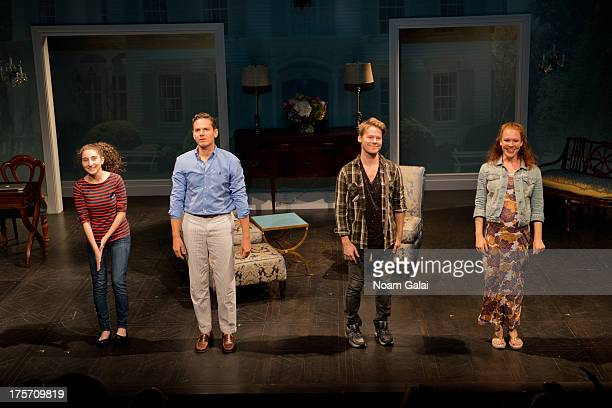 Alexis Molnar Pauln Anthony Stewart Randy Harrison and Erin Cummings perform at the 'Harbor' opening night at 59E59 Theaters on August 6 2013 in New...