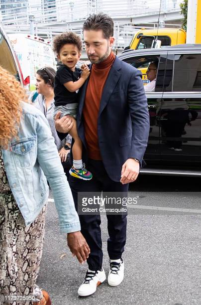 Alexis Ohanian and daughter Alexis Olympia Ohanian Jr. Are seen arriving to S by Serena Williams Fashion Show during New York Fashion Week on...