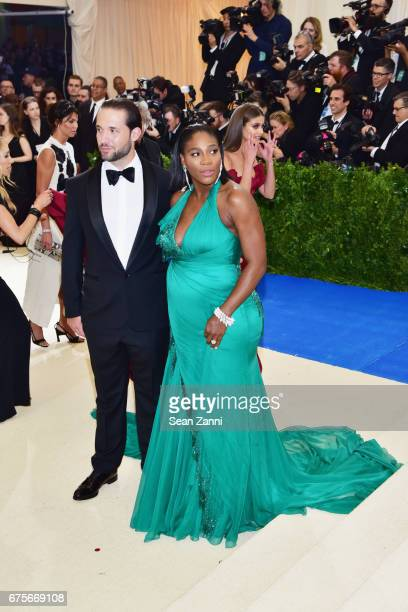 Alexis Ohanian and Serena Williams arrive at 'Rei Kawakubo/Comme des Garcons Art Of The InBetween' Costume Institute Gala at The Metropolitan Museum...