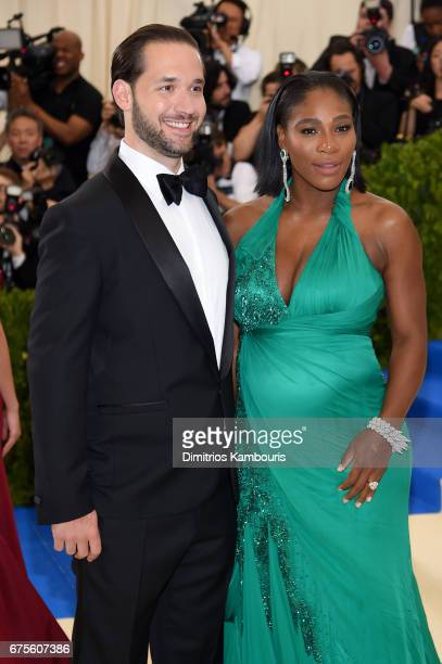 Alexis Ohanian and Serena Williams attend the Rei Kawakubo/Comme des Garcons Art Of The InBetween Costume Institute Gala at Metropolitan Museum of...