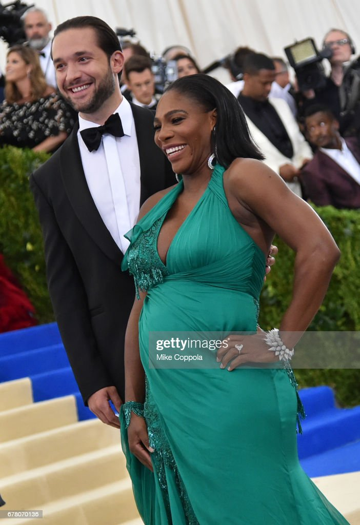 Alexis Ohanian and Serena Williams attend the 'Rei Kawakubo/Comme des Garcons: Art Of The In-Between' Costume Institute Gala at Metropolitan Museum of Art on May 1, 2017 in New York City.