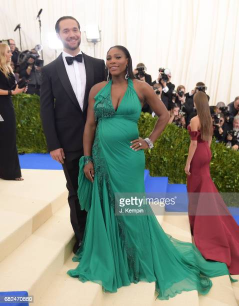 Alexis Ohanian and Serena Williams attend the 'Rei Kawakubo/Comme des Garcons Art Of The InBetween' Costume Institute Gala at Metropolitan Museum of...