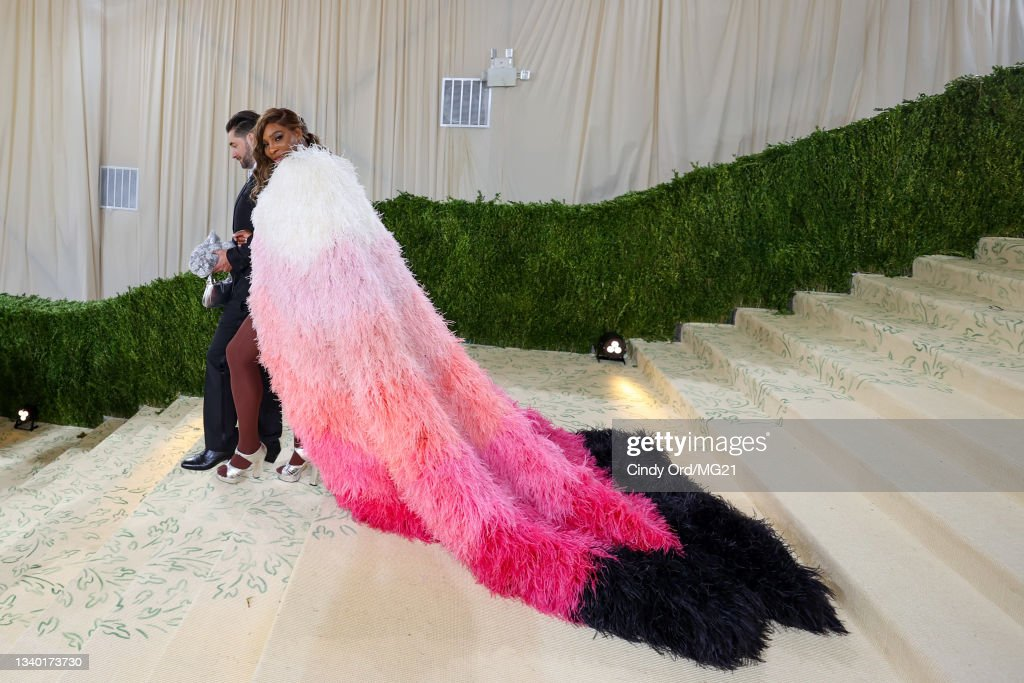 The 2021 Met Gala Celebrating In America: A Lexicon Of Fashion - Departures : News Photo