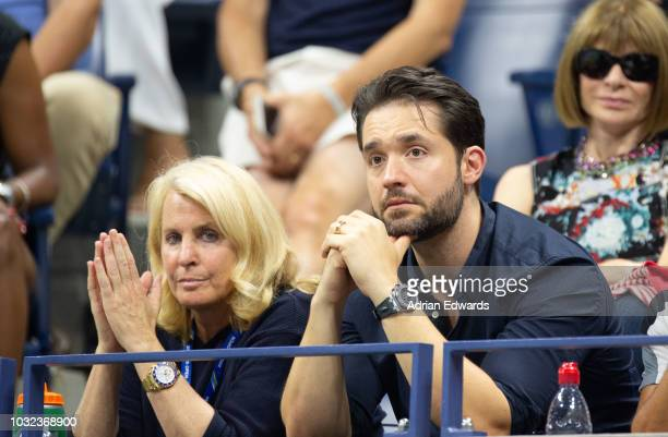 Alexis Ohanian at Day 11 of the US Open held at the USTA Tennis Center on September 6, 2018 in New York City.