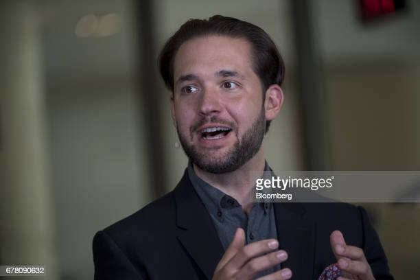 Alexis Ohanian cofounder and chairman of Reddit Inc speaks during a Bloomberg Television interview on the sidelines of the Milken Institute Global...