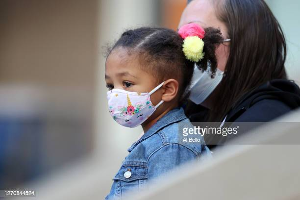 Alexis Olympia Ohanian Jr., daughter of Serena Williams , attends the Women's Singles third round match between Serena Williams of the United States...